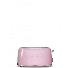 Тостер на 4 ломтика. SMEG TSF02PKEU